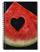 A Summer Valentine's Day Spiral Notebook