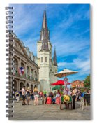 A Sunny Afternoon In Jackson Square Spiral Notebook