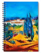 A Sunny Day In Provence Spiral Notebook