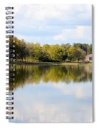 A Sunny Day's Reflections At The Lake House Spiral Notebook