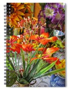 A Table Of Flowers Spiral Notebook