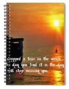 A Tear In The Ocean Spiral Notebook