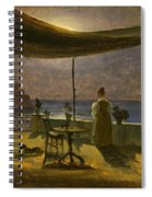 A Terrace In Amalfi In Moonlight Spiral Notebook