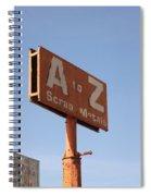 A To Z Spiral Notebook