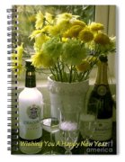 A Toast Of Cheers For The New Year Spiral Notebook