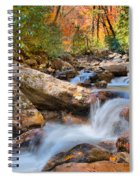 A Touch Of Autumn At Skinny Dip Falls Spiral Notebook