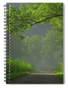 A Touch Of Green Spiral Notebook