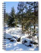 A Touch Of Snow Spiral Notebook