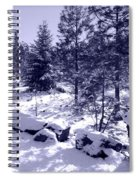 A Touch Of Snow In Lavender Spiral Notebook