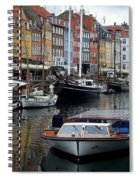 A Tour Boat At Nyhavn Spiral Notebook