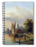 A Town By The River Spiral Notebook
