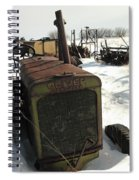 A Tractor In The Snow Spiral Notebook