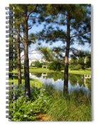 A Tranquil Pond At Walt Disney World Spiral Notebook