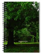 A Tree And A Bench Spiral Notebook