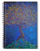 A Tree Of Orbs Glows Spiral Notebook
