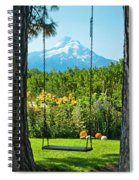A Tree Swing Is Seen On A Summer Day Spiral Notebook