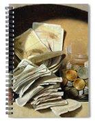 A Trompe Loeil Of Paper Money Coins Spiral Notebook