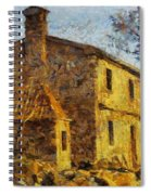 A Typical  Karstic House Spiral Notebook