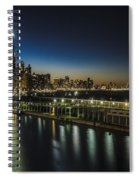 A Unique Look At The Chicago Skyline At Dusk Spiral Notebook