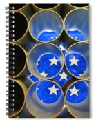 A Unique Perspective On The American Flag Spiral Notebook