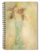 A Vase Of Gerbera Daisies In The Sun Spiral Notebook