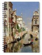 A Venetian Canal  Spiral Notebook