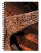 A Very Rusty Steering Wheel Spiral Notebook