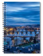 A View At Prague - Czech Republic Spiral Notebook