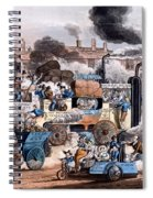 A View In White Chapel Road 1830 Spiral Notebook