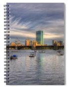 A View Of Back Bay - Boston Skyline Spiral Notebook