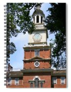 A View Of Independence Hall Spiral Notebook
