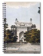 A View Of Part Of The Tomb Spiral Notebook
