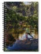 A View Of The Nature Center Merged Image Spiral Notebook