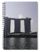 A View Of The Three Towers Of The Marina Bay Sands In Singapore Spiral Notebook
