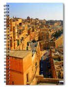 A View Of Valletta's Waterfront Spiral Notebook