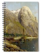 A Village By A Fjord Spiral Notebook