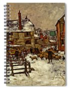 A Village In The Snow Spiral Notebook
