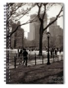 A Walk In Central Park - Antique Appeal Spiral Notebook