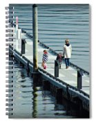 A Walk On The Pier Spiral Notebook