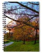 A Walk Through The Canola Fields At Sunset Spiral Notebook