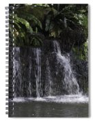 A Waterfall As Part Of An Exhibit Inside The Jurong Bird Park Spiral Notebook