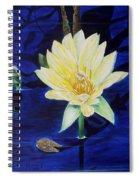 A Waterlily Spiral Notebook