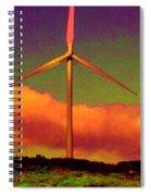 A Western Windmill Spiral Notebook