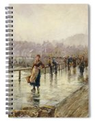 A Wet Day In Whitby Wc On Paper Spiral Notebook