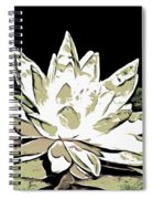 A  White Water Lily Spiral Notebook