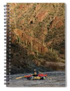 A Whitewater Rafters Rows His Boat Spiral Notebook