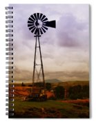 A Windmill And Wagon  Spiral Notebook