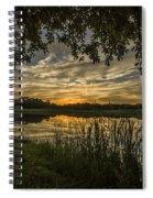 A Window To Sunset Spiral Notebook