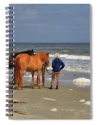 A Windy Day At Hunting Island Beach Spiral Notebook