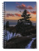A Winter Dusk At West Quoddy Spiral Notebook